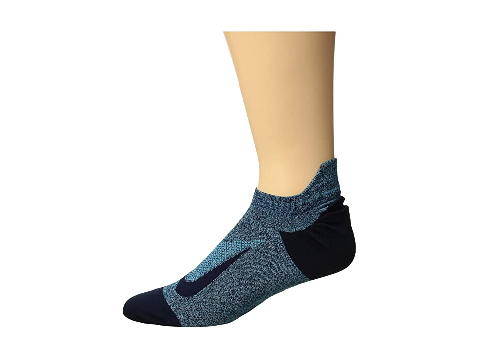 Nike Elite Merino Lightweight No Show Running Sock (Blue Fury/Obsidian) No Show Socks Shoes