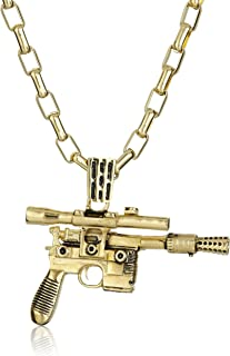 Star Wars by Han Cholo Unisex HC Blaster Gold Pendant Necklace, 30