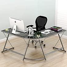 Best u shaped glass desk Reviews
