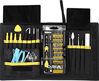 ORIA Screwdriver Set, Magnetic Driver Kit, Professional Repair Tool Kit, 76 in 1 Screwdriver Kit with Portable Bag, Flexible Shaft for iPhone 8, 8 Plus, Cellphone, Game Console,Tablet, Yellow