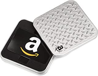 Amazon.com Gift Card in a Diamond Plate Tin (Classic Black Card Design)