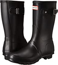 Hunter Women's Original Short Rain Boot,Black Matte,8 B(M) US