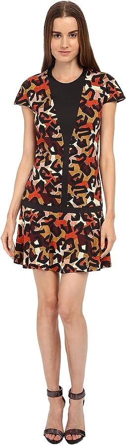 Jersey Charlotte Cheetah Print Cap Sleeve Dress