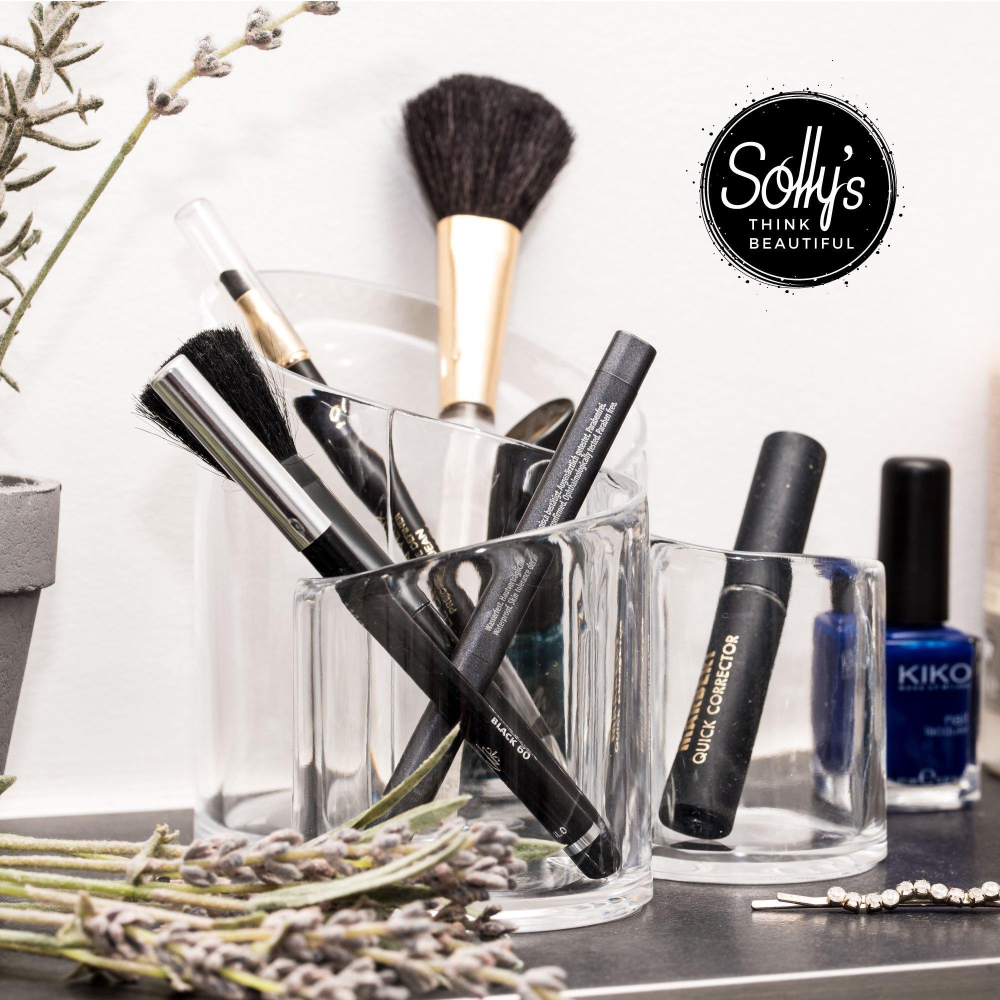 Sollys Susann - Neceser de Maquillaje Transparente - Organizador para Accesorios cosméticos - 3 Compartimentos: Amazon.es: Bricolaje y herramientas
