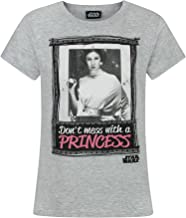 STAR WARS - Camiseta Infantil con Texto `Don`t Mess with A Princess` para niñas