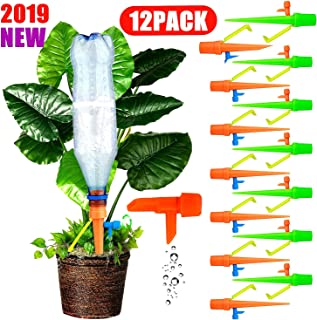 Plants Automatic Watering Spikes Self Watering Devices Drippers For Potted Plant Flower Indoor Outdoor, Slow Release Control Valve Irrigation System Waterer for Holiday Vocation Garden Lawn 12 Pack