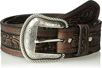 Nocona Belt Co. Men's Nocona Color Stitch Taper Floral Belt