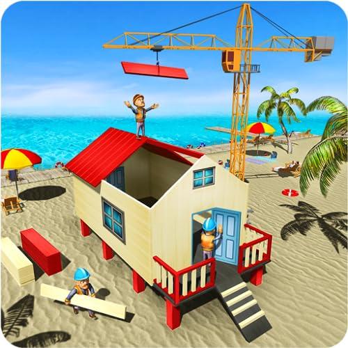 Insel Strandhütte Bau