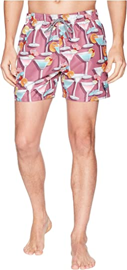 Ted Baker - Morley Martini Print Swim Trunks