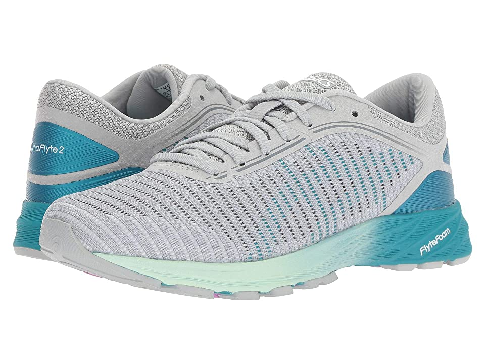490044afeb4b ASICS DynaFlyte 2 (Mid Grey Aqua Glacier) Women s Running Shoes