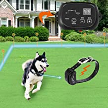 COVONO Electric Dog Fence,Pet Containment System(Aboveground/Underground,650 Ft Wire,IP66 Waterproof and Rechargeable Collar, Shock/Tone Correction,KD660B)