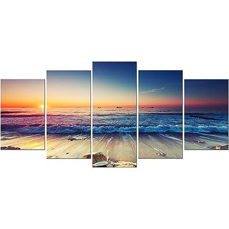 Canvas Art Print Pictures Wall Art Panoramic Landscape Sea Beach /& Sea 623