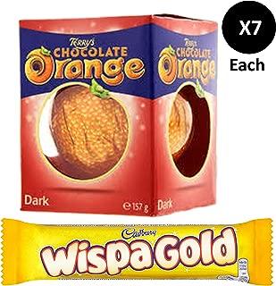Cadbury Wispa Gold 7 x48g + Terry's Dark Chocolate Orange Ball 7 x157g.