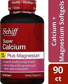 Schiff - 超级钙镁用维生素D 800 IU - 90软胶囊
