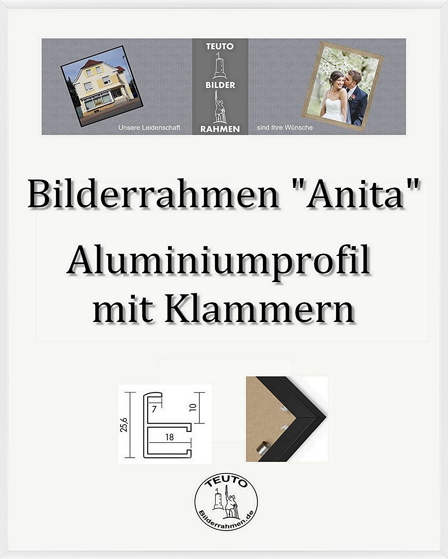 minoristas en línea Teuto-Bilderrahmen Anita Marco de Aluminio Aluminio Aluminio 47 x 62 cm Simple Firme Elegante con Vidrio acrílico antirreflexivo 2 mm en 10 Colors Diferentes aquí  blancoo  forma única