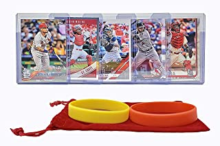 Yadier Molina Baseball Cards (5) ASSORTED St. Louis Cardinals Trading Card and Wristbands Gift Bundle