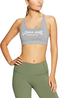 Lorna Jane Women's LJ Athletic Sports Bra, Light Grey Marl