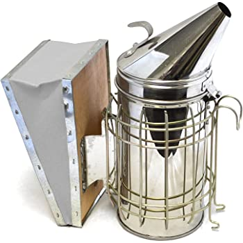 CO-Z Bee Smoker, Stainless Steel Beehive Smoker with Heat Shield Protection, Beekeeping Equipment Kit for Starter Beekeeper