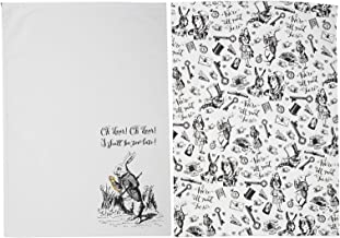 V&A 5200026 Alice in Wonderland Theedoeken, 70 x 50 cm - (set van 2), wit