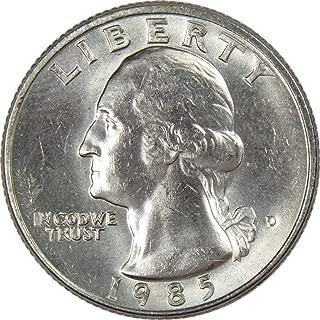 1985 D 25c Washington Quarter US Coin Uncirculated Mint State