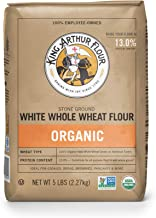 King Arthur Flour 100% Organic White Whole Wheat Flour, 5 Pound (Pack of 6)