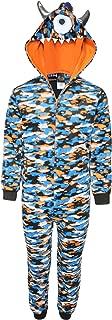 Sleep On It Boy's Micro Fleece Onesie Pajamas with Character Hood