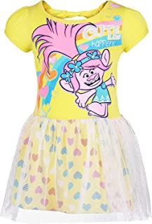 Toddler Girls' Tulle Dress Poppy, Yellow with Rainbow Hearts