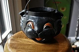 Empire Blow Mold Black Cat Halloween Bucket Vintage Halloween Trick or Treat Candy Goth