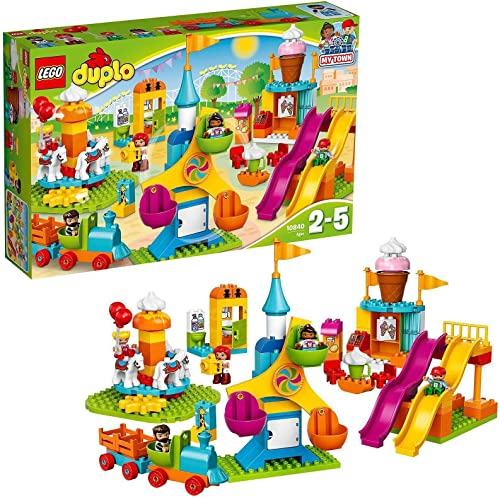 high quality LEGO DUPLO Town Big Fair 10840 Role Play and Learning Building Blocks Set for wholesale Toddlers Including a Ferris Wheel, Carousel, and Amusement Park (106 discount pieces) outlet online sale