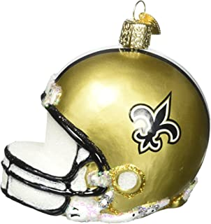 Old World Christmas Glass Blow Christmas Ornament New Orleans Saints Helmet