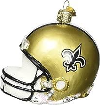 Old World Christmas Glass Blow Christmas Ornament New Orleans Saints Helmet
