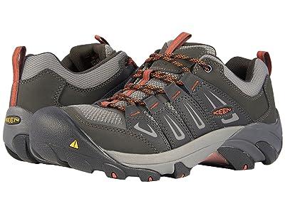 Keen Utility Boulder Low Steel Toe (Raven/Burnt Ochre) Men