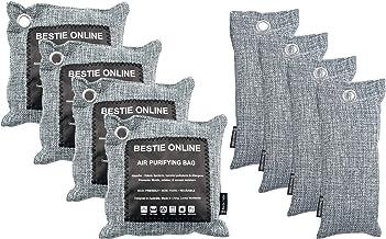 Bamboo Charcoal Air Purifier and Deodorizer Bag Set (4 x 200g, 4 x 75g)