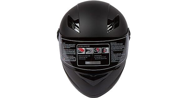 - Lightweight Full Face DOT Clear /& Smoke RE-RISE-1-HELMET-BLACK+CV-S RISE Matte Black Motorcycle Helmet w// 2 Visors Small
