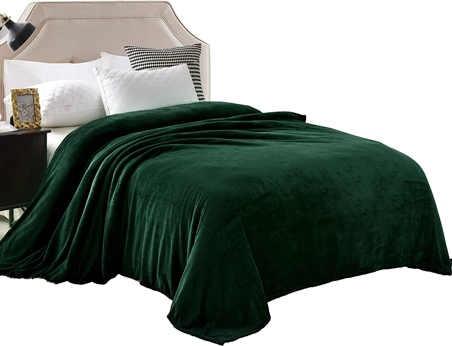 Exclusivo Milwaukee Mall Mezcla Luxury King Size free shipping Velvet Flannel Bed Plush Solid