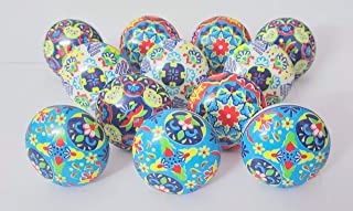 Knobs Set of 12 Ceramic Knobs Handpainted Heritage Boho Color Cabinet and Furniture Knobs Door Knobs with Proper Hardware ...