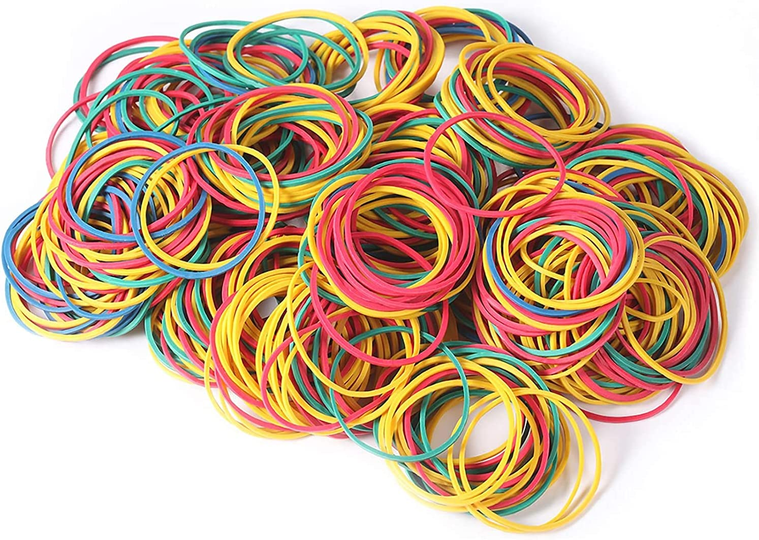 500PCS Rubber Bands Multi-Color Stretchable Elastic Bands Sturdy Rubber Bands for School Home and Office Use Stationery Supplies