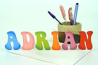 Letras de madera de colores