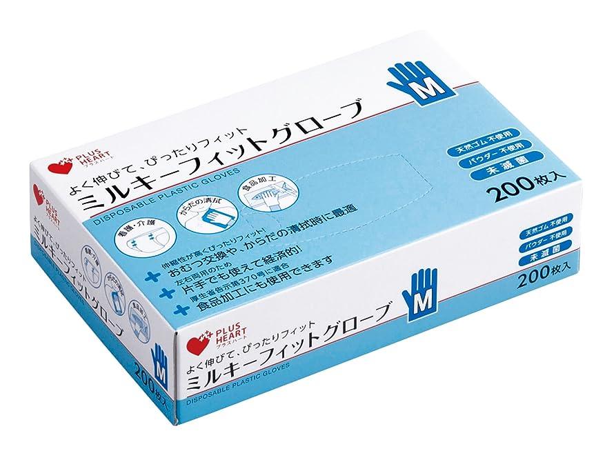 翻訳者メモ時折オオサキメディカル プラスハート ミルキーフィットグローブ Mサイズ 200枚入
