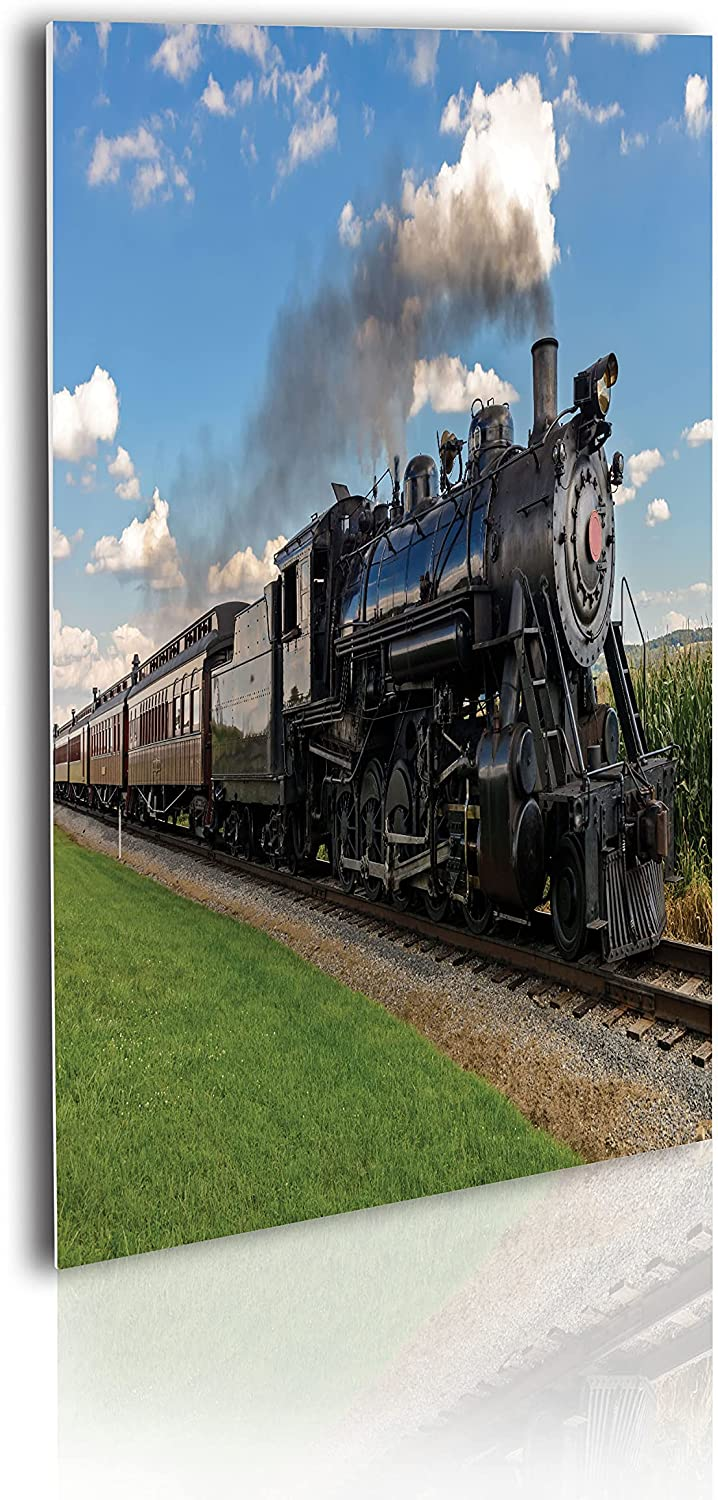 Ambesonne Steam Engine Acrylic Glass Wall Art Vintage Reservation At the price Locomotiv