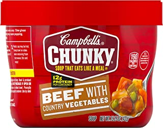 Campbell's Chunky Soup, Beef with Country Vegetables, 15.25 Ounce (Pack of 8) (Packaging May Vary)