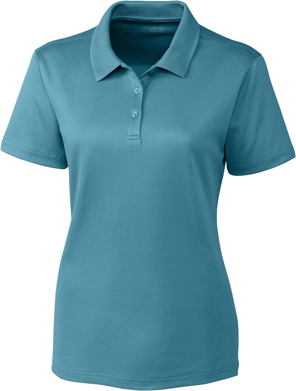 Clique LQK00063 Ladies' Spin Lady Pique Polo Shirt, Dusty Blue - XXX-Large