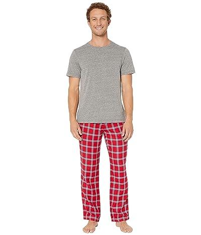 UGG Grant Woven Sleepwear Set (Chili Pepper/Grey Heather) Men