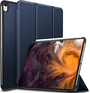Infiland iPad Pro 12.9 2018 Case, Tri-Fold Case Cover Compatible with iPad Pro 12.9 Inch 3rd Gen 2018 Release (Support 2nd Gen Apple Pencil Wireless Charging, Auto Wake/Sleep) Navy