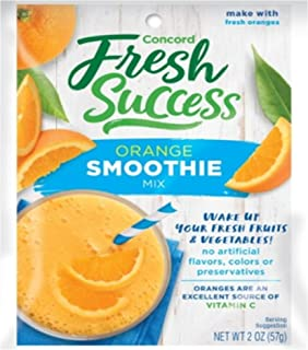 Concord Foods, Smoothie Mix, Orange, 2oz Packet (Pack of 6)