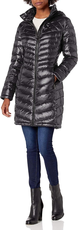 Calvin Klein Women's Walker Packable Superlatite and with Stand Jacket Alternative dealer Hood