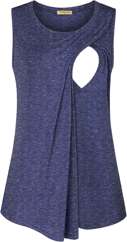 Ranking TOP12 OFFicial site Baikea Womens Sleeveless Breastfeeding Asymmetrical Nursi Shirts