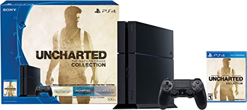 PlayStation 4 500GB Console - Uncharted: The Nathan Drake Collection Bundle (Physical Disc)[Discontinued] (Renewed)