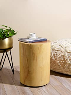 Best Home Fashion Glen Wood Stump Stool