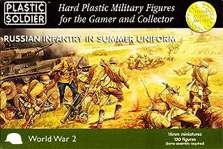 15mm WWII - Russian: Russian Infantry in Summer Uniform (130)